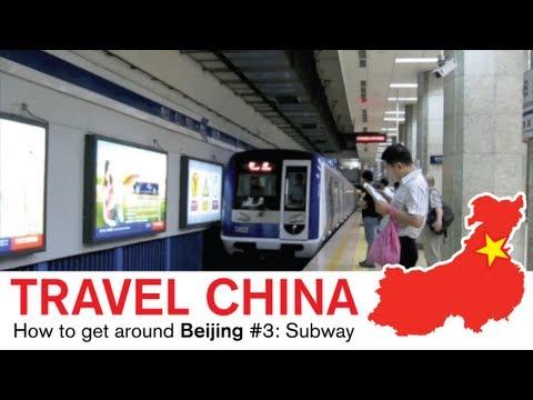 Beijing Ubahn - Zugfahren in China