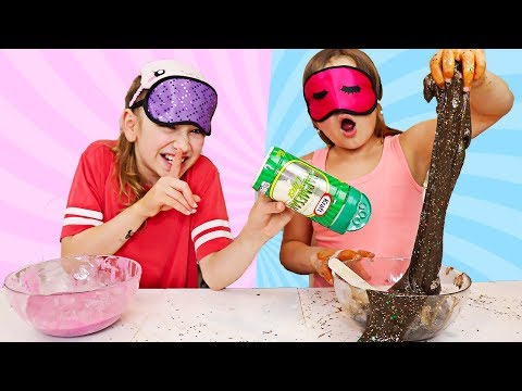 CILLA CHEATED AGAIN! Blindfolded Slime Challenge! | JKrew
