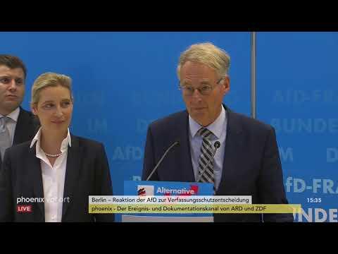 Pressekonferenz der AfD-Fraktion zur bundesweiten Prüfu ...