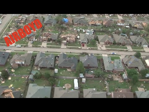 Moore - Video by Lt. Col. Lindy White Oklahoma National Guard Uncut Black Hawk aerial video from start to finish of the Moore tornado damage path. Produced by Lt. Co...