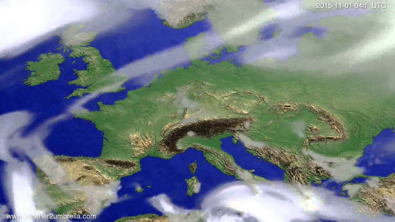 Cloud forecast Europe 2015-10-28