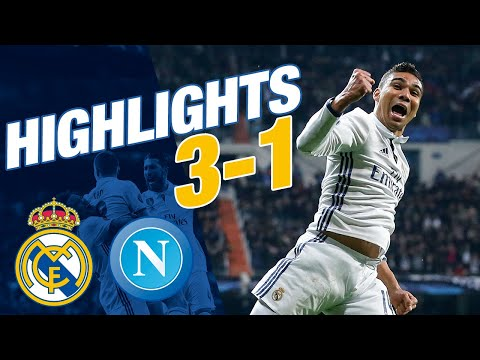GOALS AND HIGHLIGHTS | Real Madrid 3-1 Napoli | Champions League