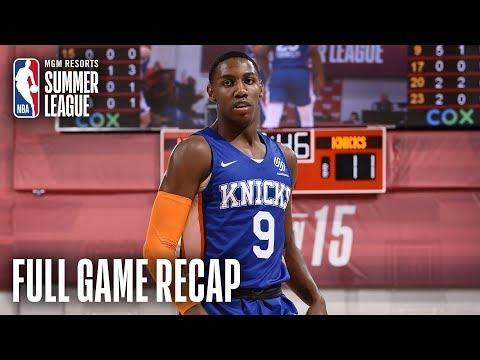 Video: KNICKS vs WIZARDS | RJ Barrett Nears Triple Double As Knicks Win | MGM Resorts NBA Summer League