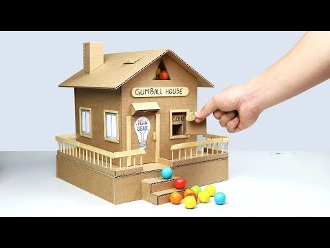 Video How to Make Gumball House Vending Machine from Cardboard download in MP3, 3GP, MP4, WEBM, AVI, FLV January 2017