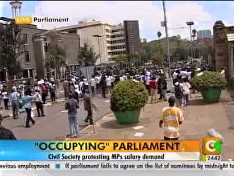 Protest - Civil Society Protest Against Mps Salary Demand.