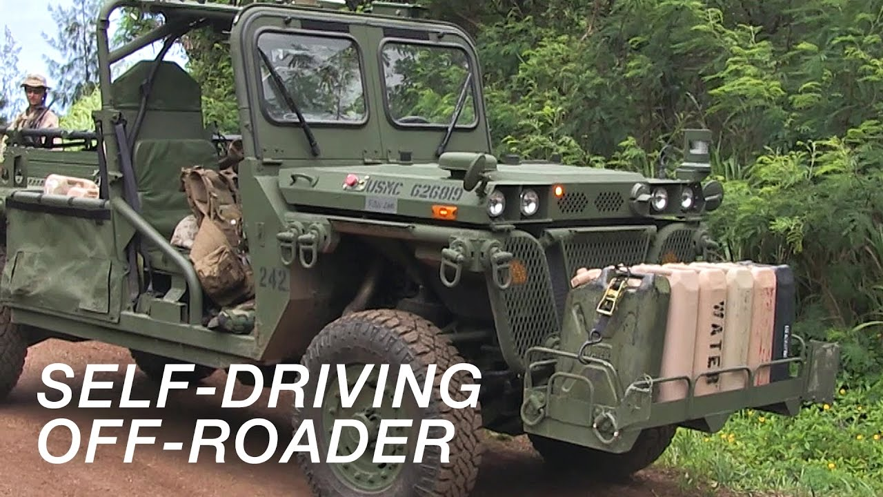 "US Military Self-Driving Car in Action – ""GUSS"" Ground Unmanned Support Surrogate."
