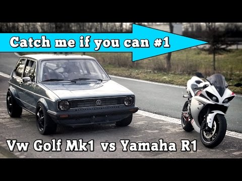 vw golf mk1 1056hp vs yamaha r1 182hp street