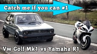 10. VW Golf Mk1 1056HP vs Yamaha R1 182HP street race Full Version CMIYC#1