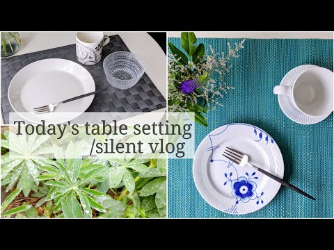 Today's Table Setting/silent vlog || healing vlog | a quiet rainy day vlog | 雨の日のテーブルコーデ… видео