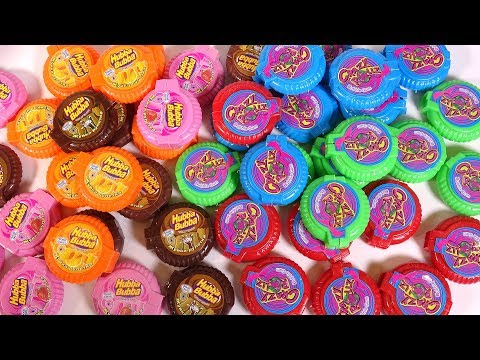 Opening Box of Hubba Bubba and Crazy Rollz For Kid Learn Colors | 100% Hubba Bubba Mini, Bubble Gum