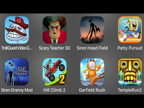 Troll Quest Video Games,Scary Teacher 3D,Siren Head Field,Patty Pursuit,Siren Granny Mod,HillClimb2