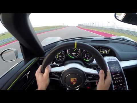 long - Multi-time Champion Patrick Long, Porsche Works Driver, utilizes all the systems of the new plug-in hybrid Porsche 918 Spyder for a hot lap of the new Circui...