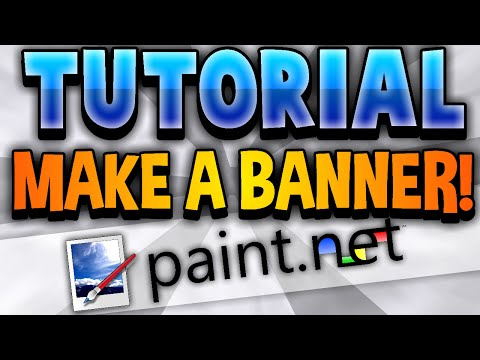 [TUTORIAL] How To Make an AMAZING YouTube One Channel Banner FREE! - Paint NET (2014)