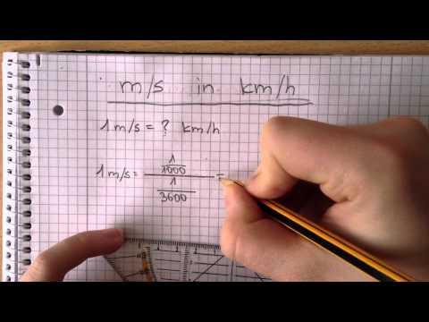 Meter pro Sekunde in Kilometer pro Stunde umrechnen - Mathematik Aufgaben leicht gemacht