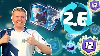 Video INSANE CYCLE! 2.6 Ice Wizard Miner Tornado Cycle Deck LIVE Grand Challenge Gameplay - Clash Royale MP3, 3GP, MP4, WEBM, AVI, FLV September 2018