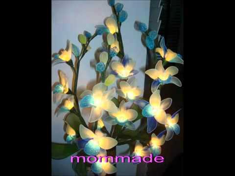 โคมไฟดอกไม้จากผ้าใยบัวwmv  - YouTube.flv
