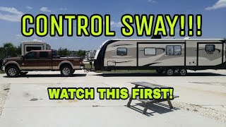 2. Sway when towing an RV? Watch this!