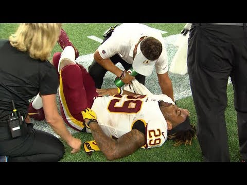 Derrius Guice runner of the Washington Redskins suffered a tear of the anterior cruciate ligament.