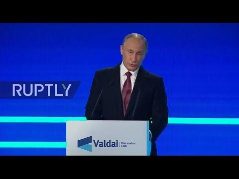 LIVE: Putin gives speech at Valdai Club session in Sochi
