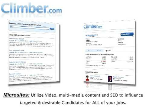 Online job search expert Climber.com gives Companies the edge with customized company Microsites
