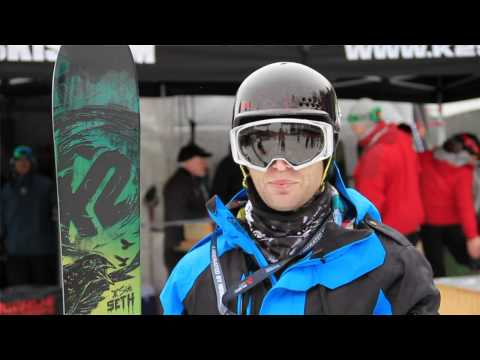 2012 - 2013 NEW Seth Morrison K2 Pro model ski the SIDE SETH with Rocker and Camber