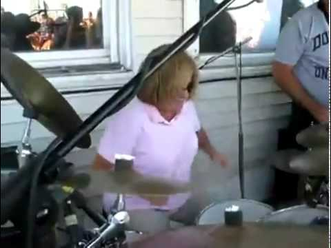 Mom Totally Beasts This Drum Solo