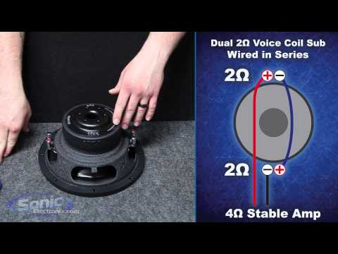 4 ohm - Learn how to wire a dual 2 ohm car subwoofer to a 4 ohm final impedance using the series wiring method. The most common question we are asked here at Sonic E...