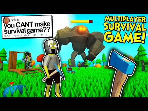 Play this video He said I Couldn39t Make a Multiplayer Survival Game... So I Made One!