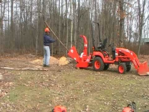wallenstein bx 42 chipper on Kubota BX 24