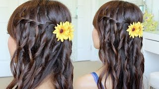 Waterfall Braid Hairstyle On Yourself | Hair Tutorial - YouTube