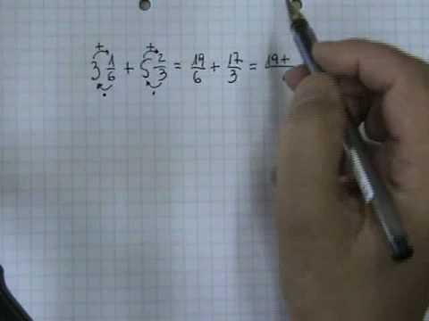 Vídeos Educativos.,Vídeos:Suma de números mixtos 2