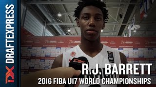 R.J. Barrett Interview and Highlights from U17 World Championship