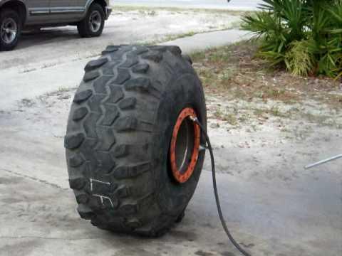 mounting 44 swamper mud tire on 21