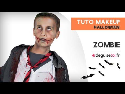 Tuto maquillage Halloween enfant/ado Zombie - Deguisetoi.fr