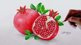 Drawing A Pomegranate Fruit With Water Color and Colored Pencils  Drawn by using Prismacolor Premiere colored pencils .Time Lapse Drawing.Time taken around 2.30 hours.Background Music : Faith by Vibe Tracks.If you like my video please don't forget to subscribe.Thanks for watching.