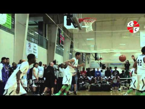 Vicious one hand throw down dunk by Atlanta Celtics' Kaiser Gates at Bob Gibbons TOC