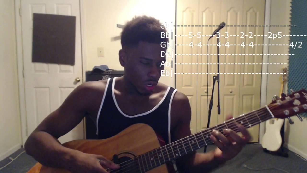 Self Control – Frank Ocean Acoustic Guitar Tutorial | Beginner/Intermediate