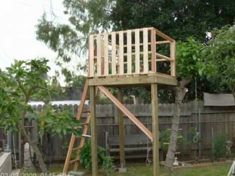 Free Standing Fort Plans Woodworking DIY PlanHOW TO MAKE A TREE HOUSE FOR YOUR BACK YARD