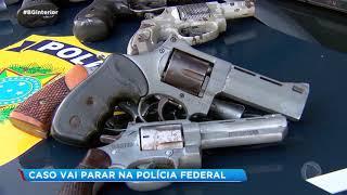 Casal é preso com armas na BR-153 em Marília