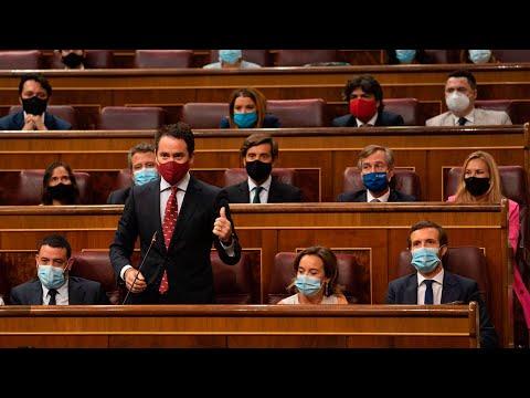 Teodoro García Egea interviene en la sesión de control al Gobierno en el Congreso