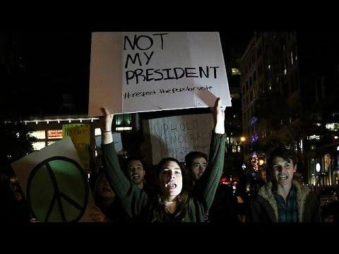 Συνεχίζονται οι διαδηλώσεις κατά Τραμπ στις αμερικανικές μεγαλουπόλεις