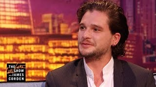 James asks Kit Harington about his friendship with Ed Sheeran and learns the two first encountered each other in the bathroom and hit it off. More Late Late ...