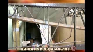 A Região Metropolitana de Belo Horizonte sofreu com ventos fortes, de 63km/h, durante duas pancadas de chuva, ontem pela...
