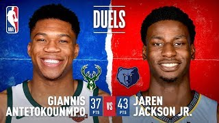 Giannis and JJJ Duel in Memphis! by NBA