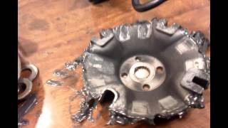 10. Yamaha Kodiak 450 CVT cleaning