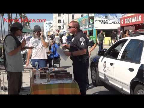 LAPD, FREE INCENSE AND INCENSE HOLDERS AT MATT DOWD STAND VENICE BEACH CA MARCH 2, 2012