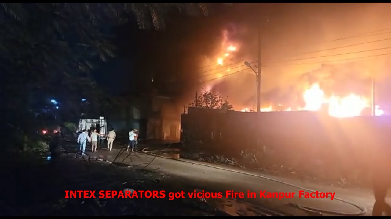 Video of Intex Separator hit by a vicious fire