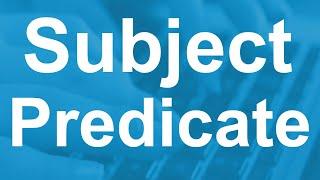 Subject&Predicate