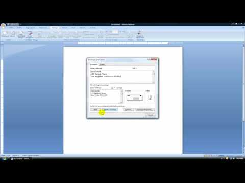 Print - A quick video tutorial showing you how to print an envelope in word 2003 and word 2007.