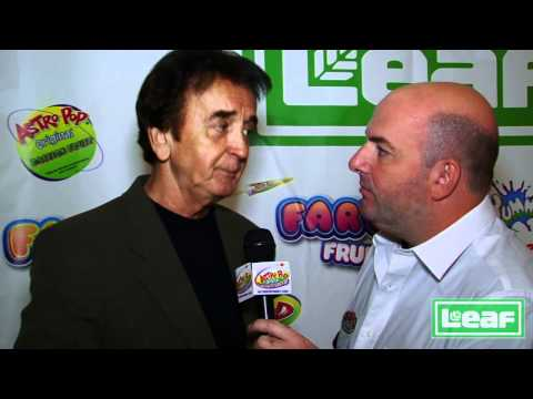 Famous comedian Johnny Dark interview with Brian Whitman at Leaf Brands booth